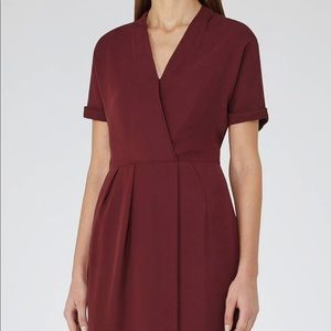 Reiss burgundy dress